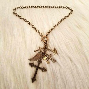 Religious Cross Charm Necklace 1503